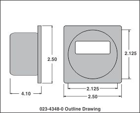outline drawing dc voltmeter display