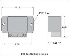 outline drawing safety lock d