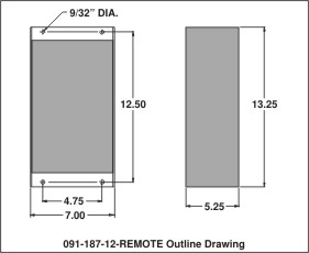 outline drawing 091-187-12-remote