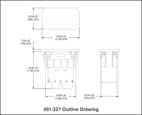 091-227 outline drawing