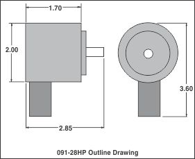outline drawing 091-28hp