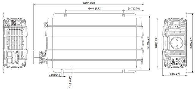 outline drawing inverter 1000w