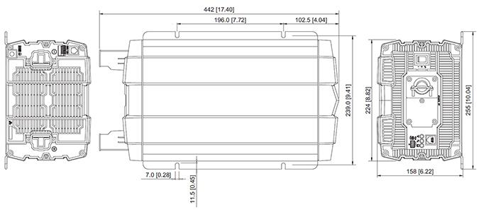 outline drawing inverter 3000w