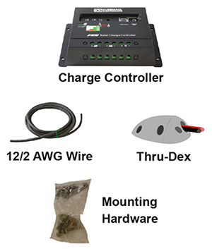 flex solar panel hardware